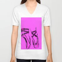 ballerina V-neck T-shirts featuring Ballerina by Art Corner