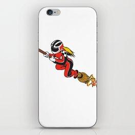 Broomstick Speeding Racing  iPhone Skin