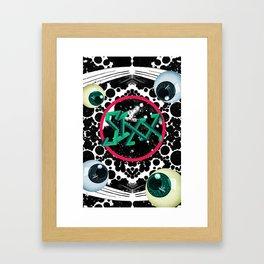 SIXX in Supersonic Black Framed Art Print