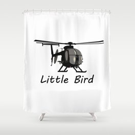 MH-6 Little Bird Helicopter Shower Curtain
