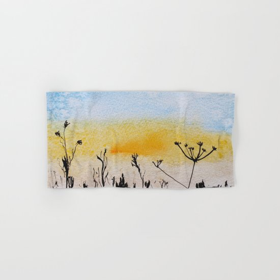 Summer sunrise in watercolor Hand & Bath Towel