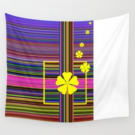 GRAPHIC POP of FLOWERS Wall Tapestry