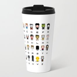 Horror Movies Alphabet Travel Mug