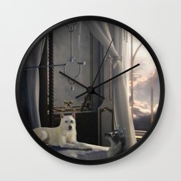 The Waiting Wall Clock