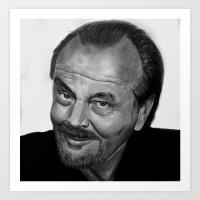 jack nicholson Art Prints featuring Jack Nicholson by Alessandro Modesti