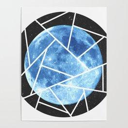 Blue Moon Minimal Design Poster