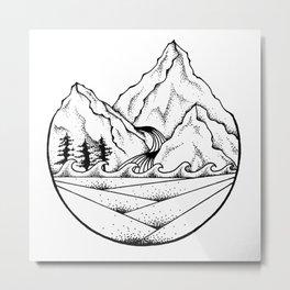 Mountain Still Metal Print
