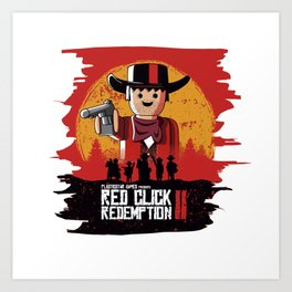Red Click Redemption Art Print