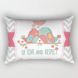 Chevron Love Birds Couple Rectangular Pillow