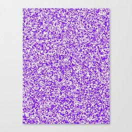 Tiny Spots - White and Indigo Violet Canvas Print