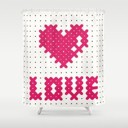 Embroider the Love! Shower Curtain