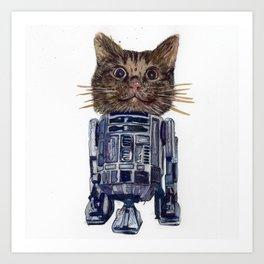 Cat2D2 Art Print
