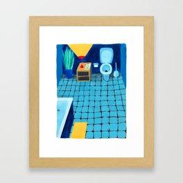 Baño a medianoche Framed Art Print