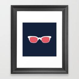 Sun Glasses on Dark Blue Framed Art Print