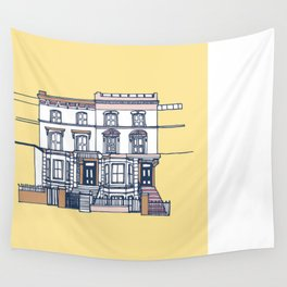 'Notting Hill' house print Wall Tapestry