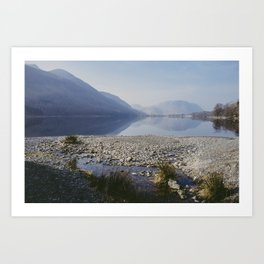 buttermere reflections. lake district, uk. Art Print