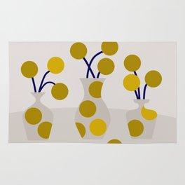 Illustration:cut flowers Rug