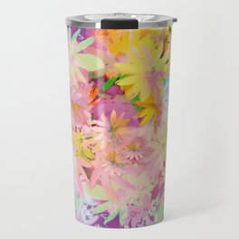 A bed of flowers. Travel Mug