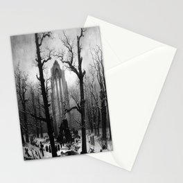 Caspar David Friedrich's Monastery Graveyard in the Snow Stationery Cards
