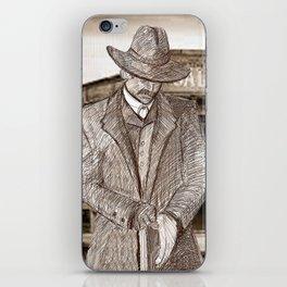 Wyatt Earp Poster iPhone Skin