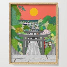 Passage to Light - Miyajidake Shrine Serving Tray