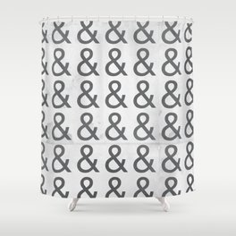 Helvetica Ampersand - Happy National & Day! Shower Curtain