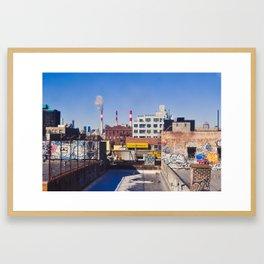 Long Island City Skyline Framed Art Print