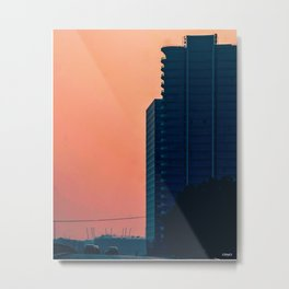 Abuja Sunset by the Tower Metal Print