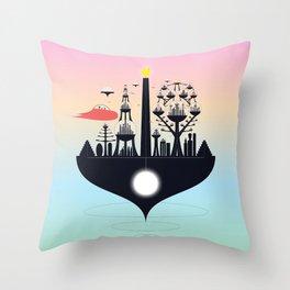 Future City Throw Pillow