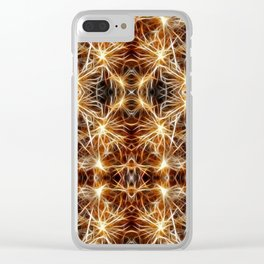 Sea Urchin Lights Clear iPhone Case