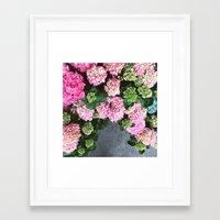 hydrangea Framed Art Prints featuring Hydrangea  by Chelsea Victoria