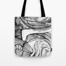 Onions (black and white) Tote Bag