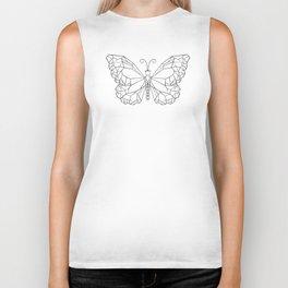 Polygonal Butterfly Monarch Biker Tank