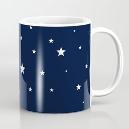 Scattered Stars White on Midnight Blue Coffee Mug