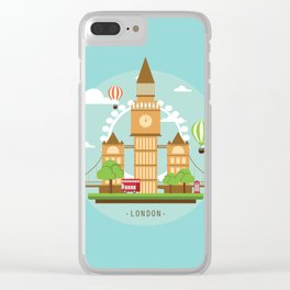 London,England Clear iPhone Case