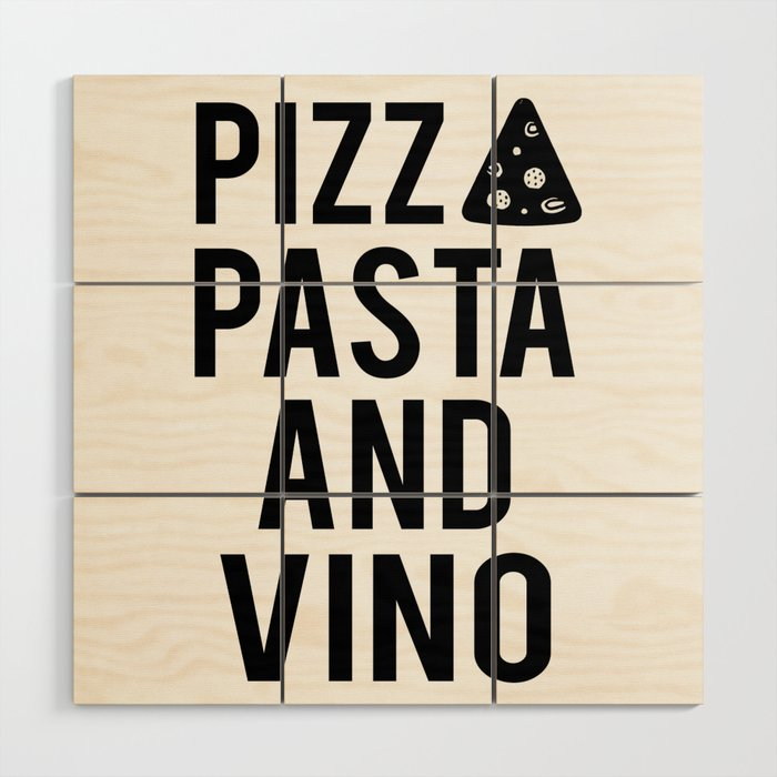 Printable Art Pizza Pasta And Vino Kitchen Wall Art Bar Decor Restaurant Decor Wood Wall Art By Aleksmorin