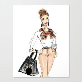 Fall Print, Fashion Print, Fashion Illustration Print, Pinales Illustrated Canvas Print