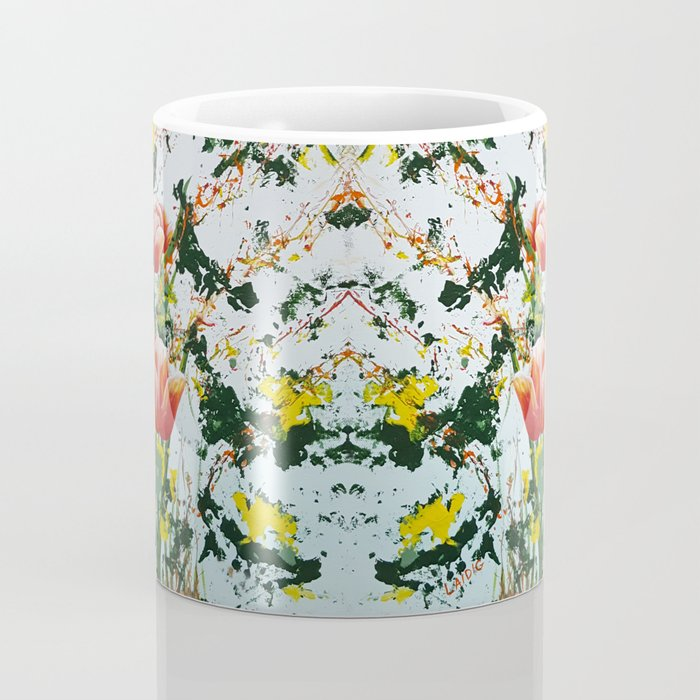 Edge of a tulip garden Coffee Mug
