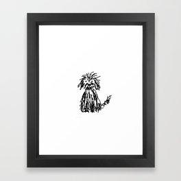Doggy day Framed Art Print