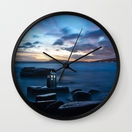 Tardis On The Sea Stone Wall Clock
