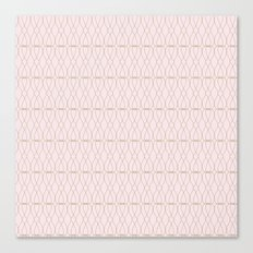 Pink Geometric Lines Canvas Print