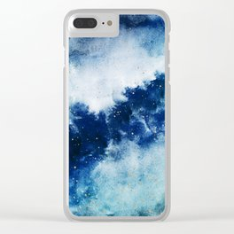 ROYAL BLUE GALAXY Clear iPhone Case