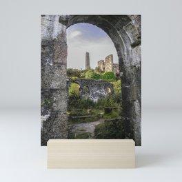 MINE RUINS AT WHEAL BASSET STAMPS CORNWALL Mini Art Print