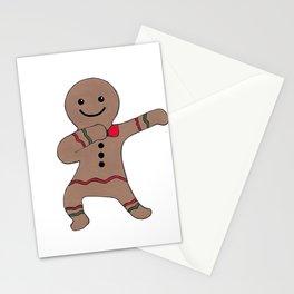 Gingebread Man Dab Stationery Cards