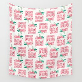 Shortcake Strawberry Watercolor Wall Tapestry