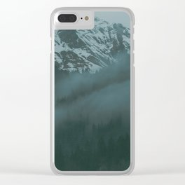 Swiss Fog VII Clear iPhone Case