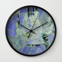 transparent Wall Clocks featuring transparent flowers by clemm
