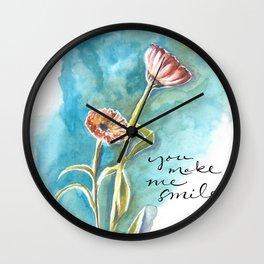 You Make Me Smile Wall Clock