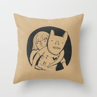 lovers Throw Pillows featuring Lovers by Celia Marquis