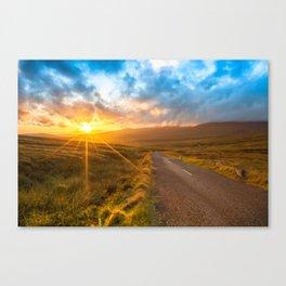 Sunset Wicklow Mountains Ireland Canvas Print
